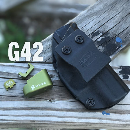 Glock 42 Hyve Mag Extensions Green