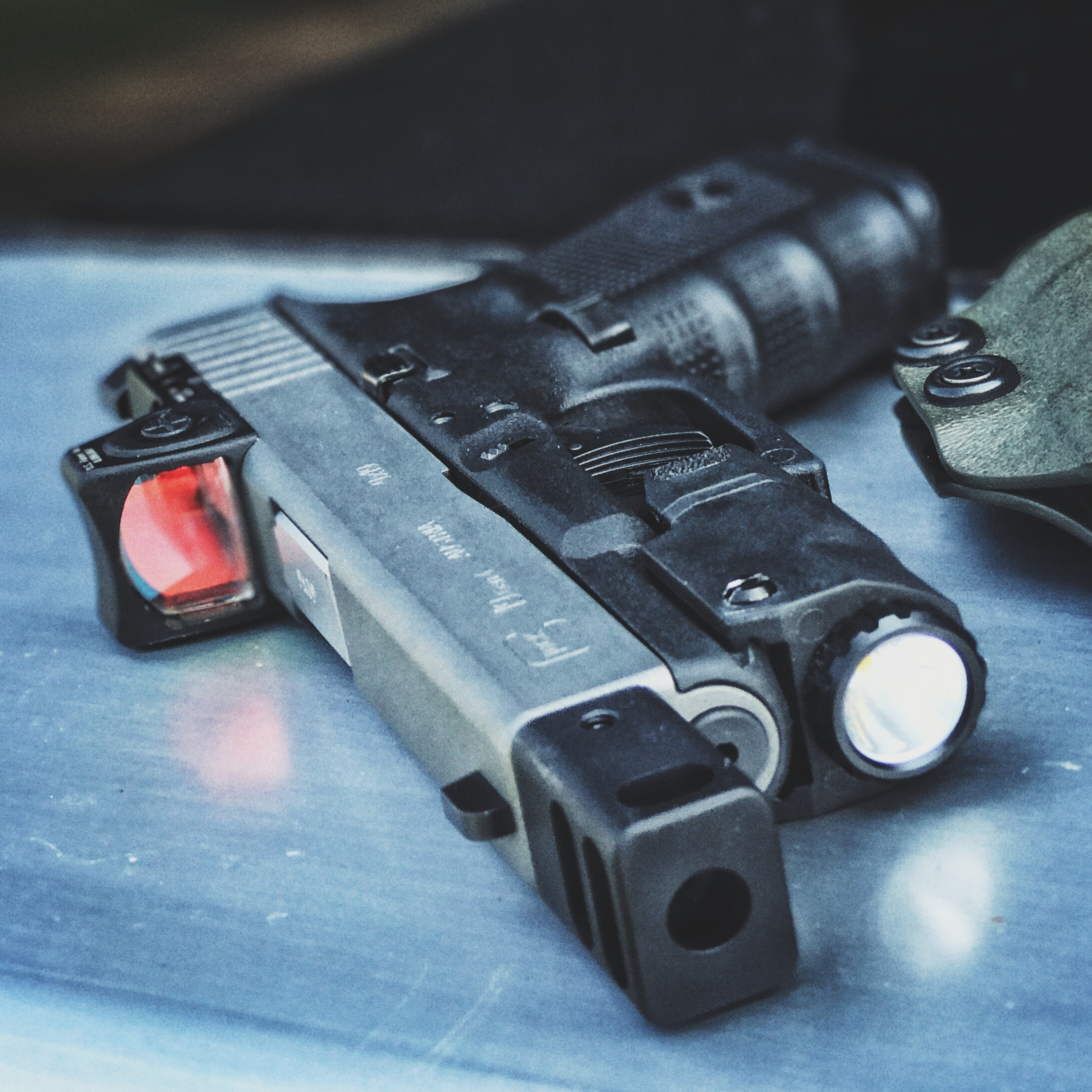 Glock 19 with Trijicon RMR and APLc
