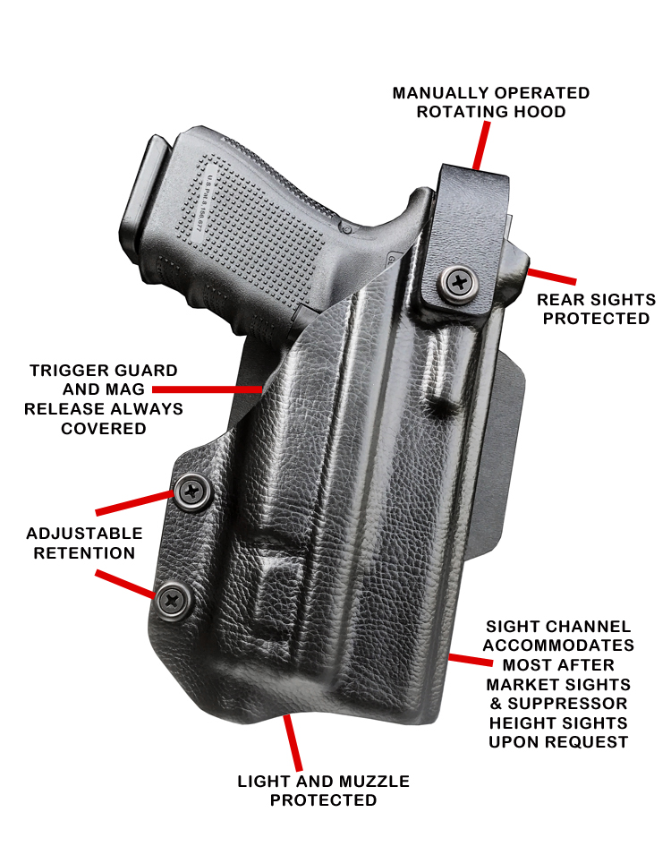 Light bearing Level 2 Retention Holster