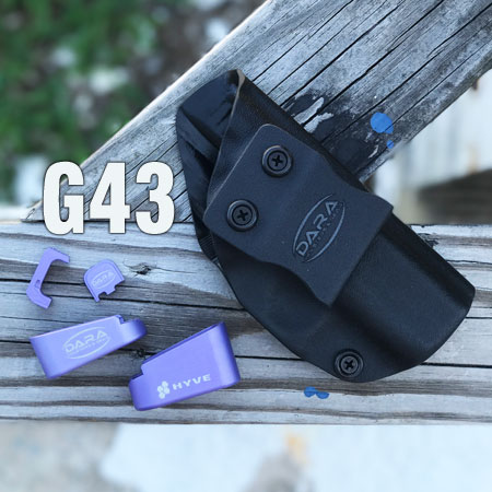 Glock 43 Hyve Mag Extension LILAC