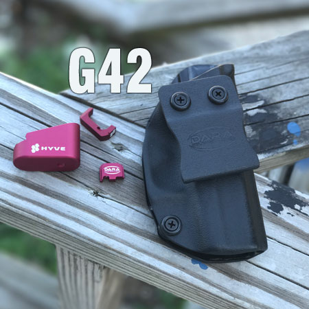 Glock 42 Hyve Mag Extension Red