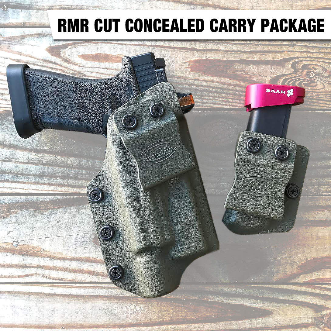IWB Holster cut for Optic RMR and Mag Carrier