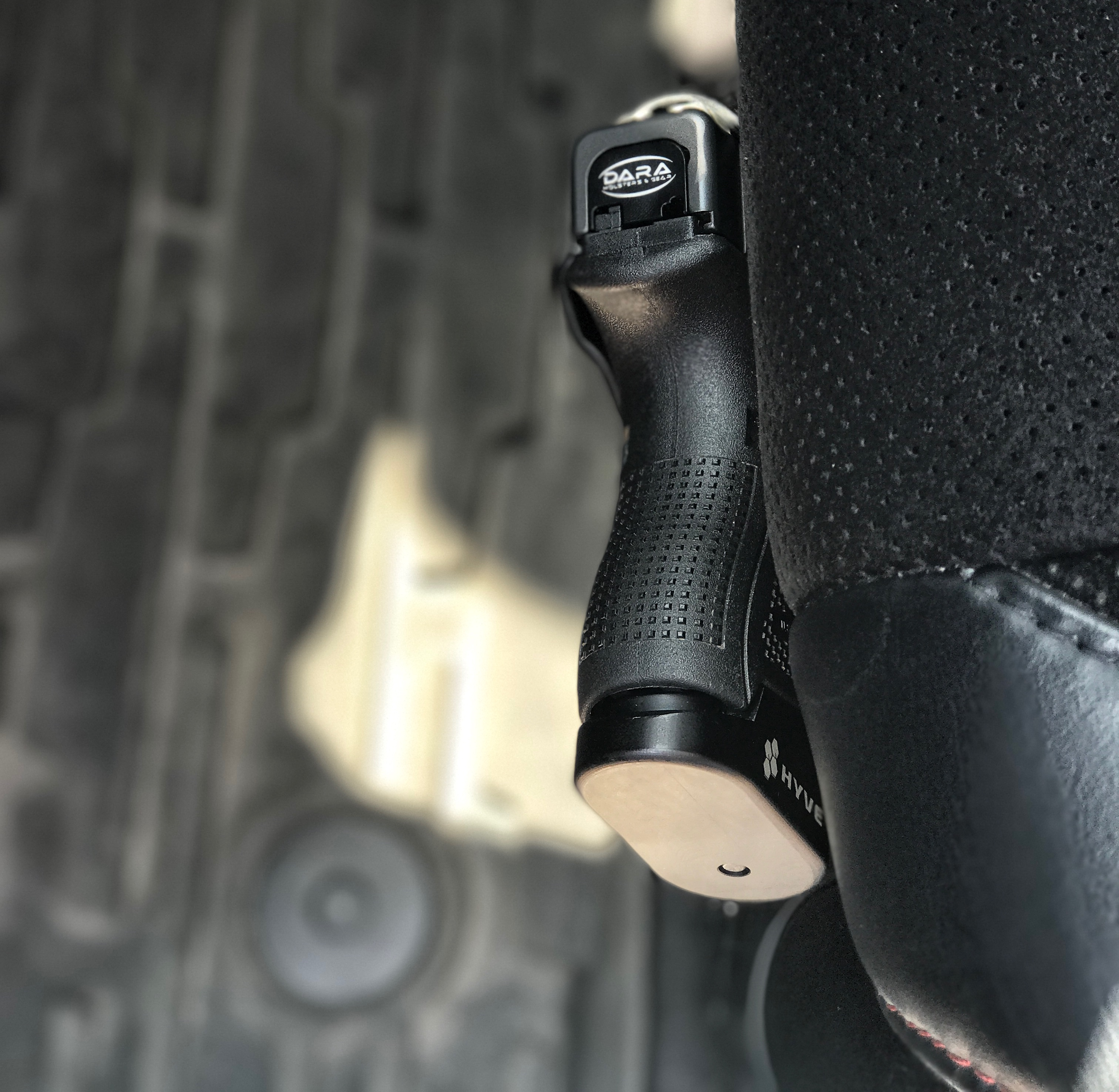 Glock 26 Mounted Vehicle Holster